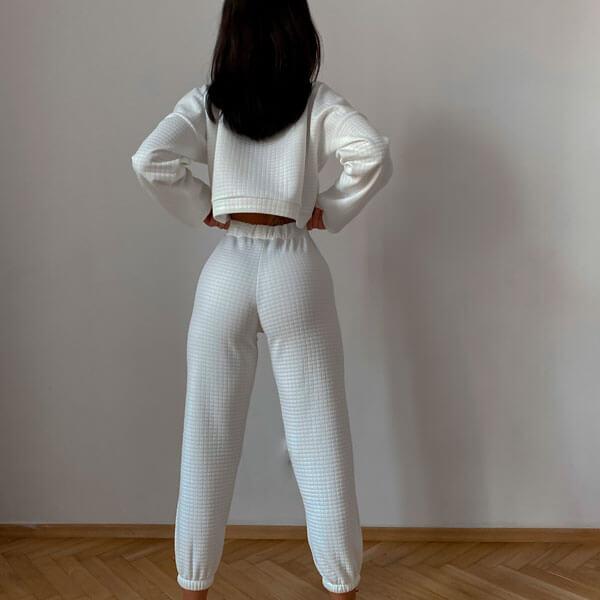 Obcisłe spodnie sportowe na co dzień na mankiecie (LG11)