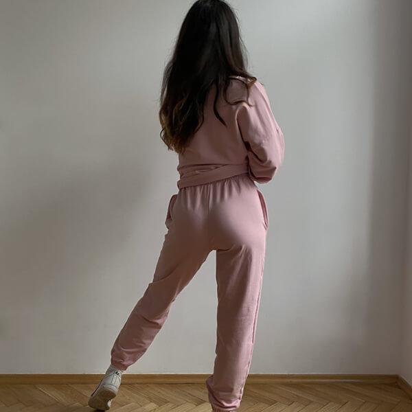 Luźne spodnie na co dzień na mankiecie (LG13)