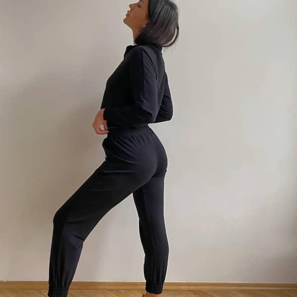 Luźne spodnie na co dzień na mankiecie (LG14)
